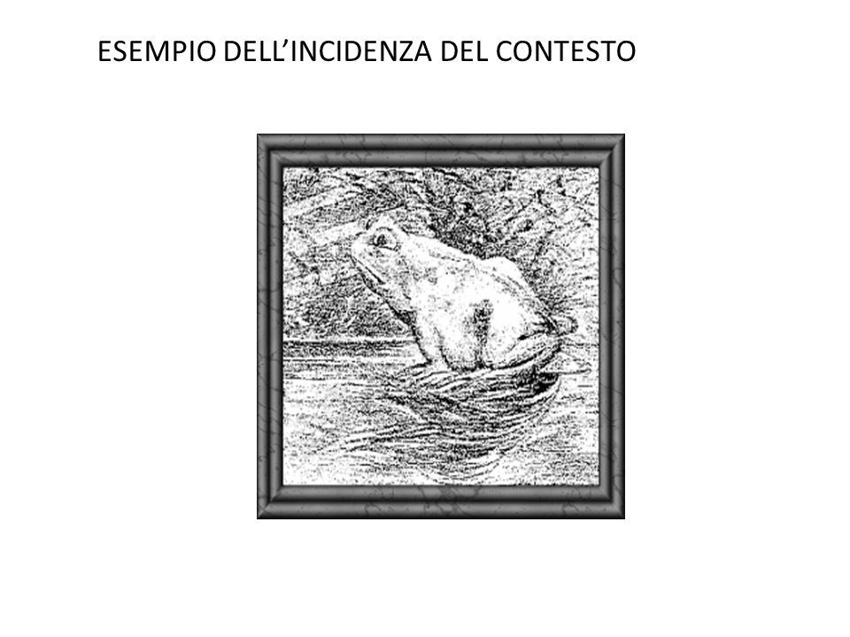 ESEMPIO DELL'INCIDENZA DEL CONTESTO