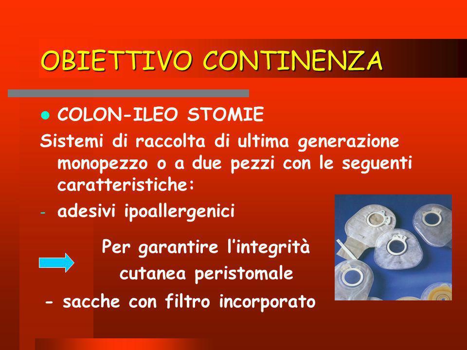 OBIETTIVO CONTINENZA COLON-ILEO STOMIE