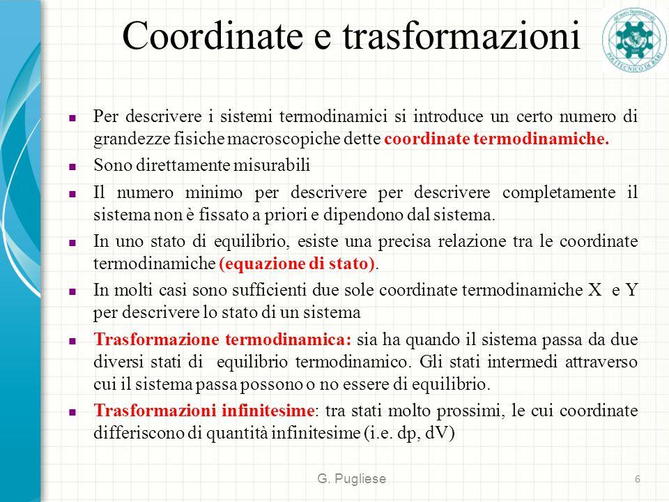Coordinate e trasformazioni