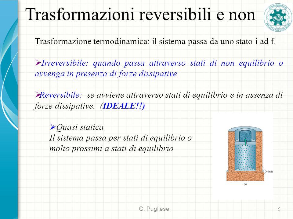 Trasformazioni reversibili e non