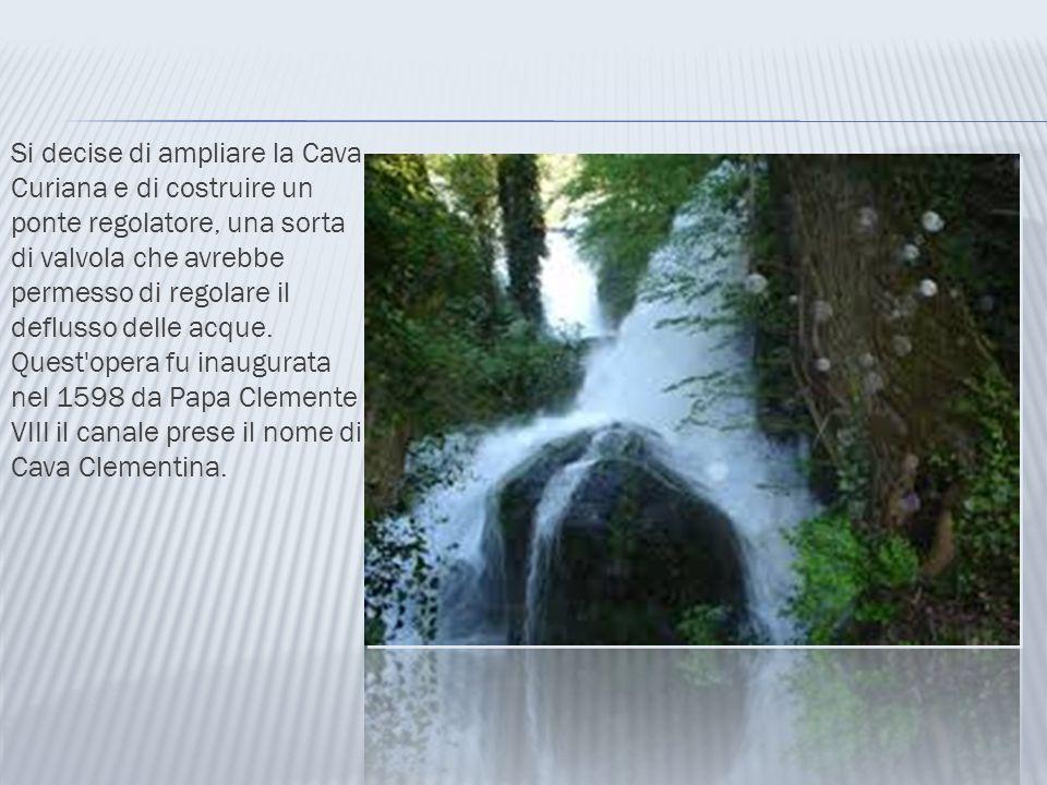 Si decise di ampliare la Cava Curiana e di costruire un ponte regolatore, una sorta di valvola che avrebbe permesso di regolare il deflusso delle acque.