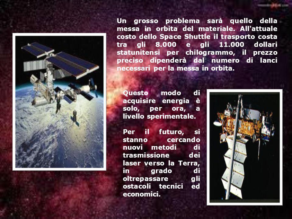 Un grosso problema sarà quello della messa in orbita del materiale