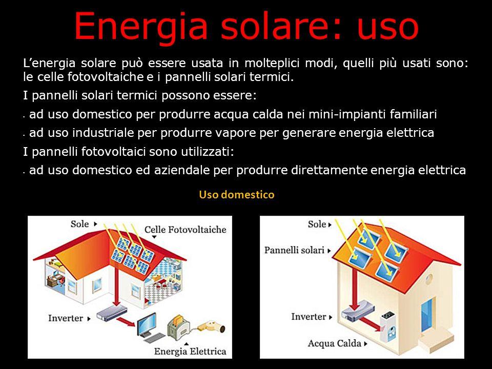Energia solare: uso Uso domestico