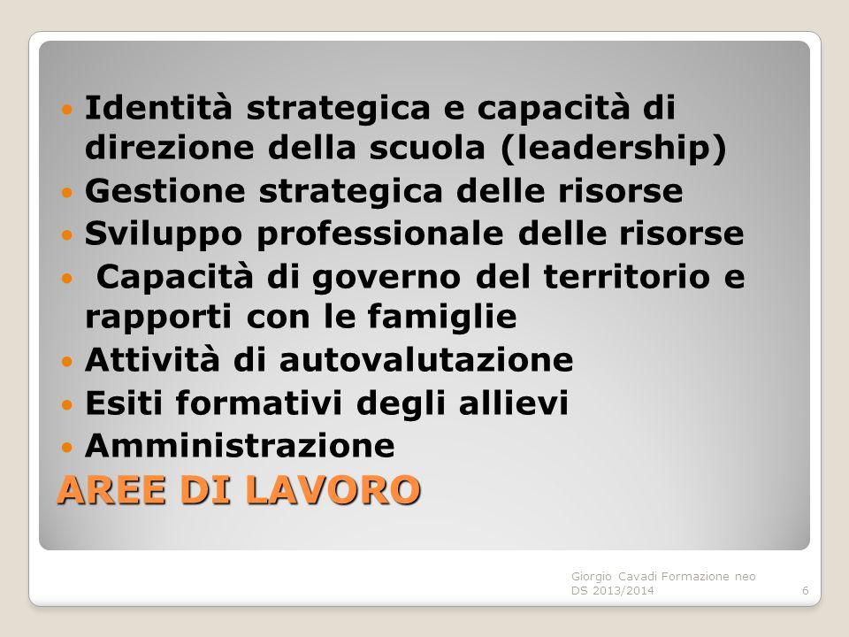 Identità strategica e capacità di direzione della scuola (leadership)