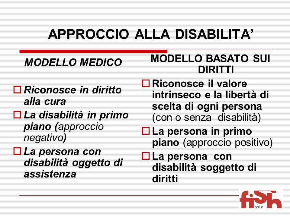 APPROCCIO ALLA DISABILITA'