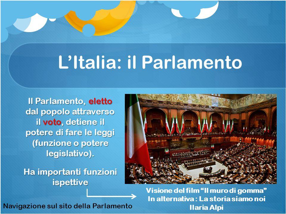 L'Italia: il Parlamento