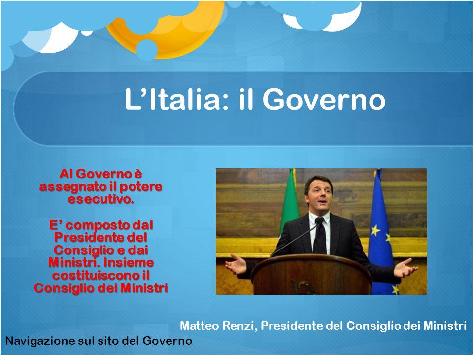 L'Italia: il Governo