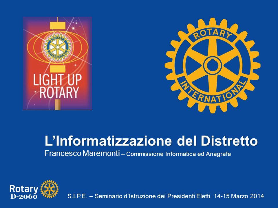 L'Informatizzazione del Distretto Francesco Maremonti – Commissione Informatica ed Anagrafe