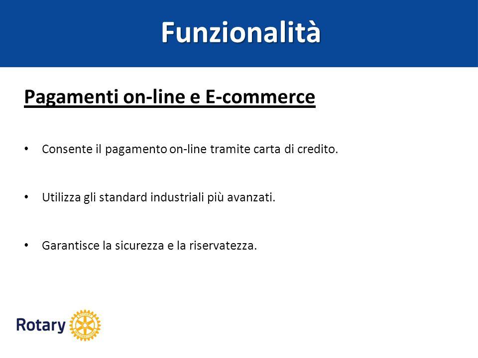 Funzionalità Pagamenti on-line e E-commerce