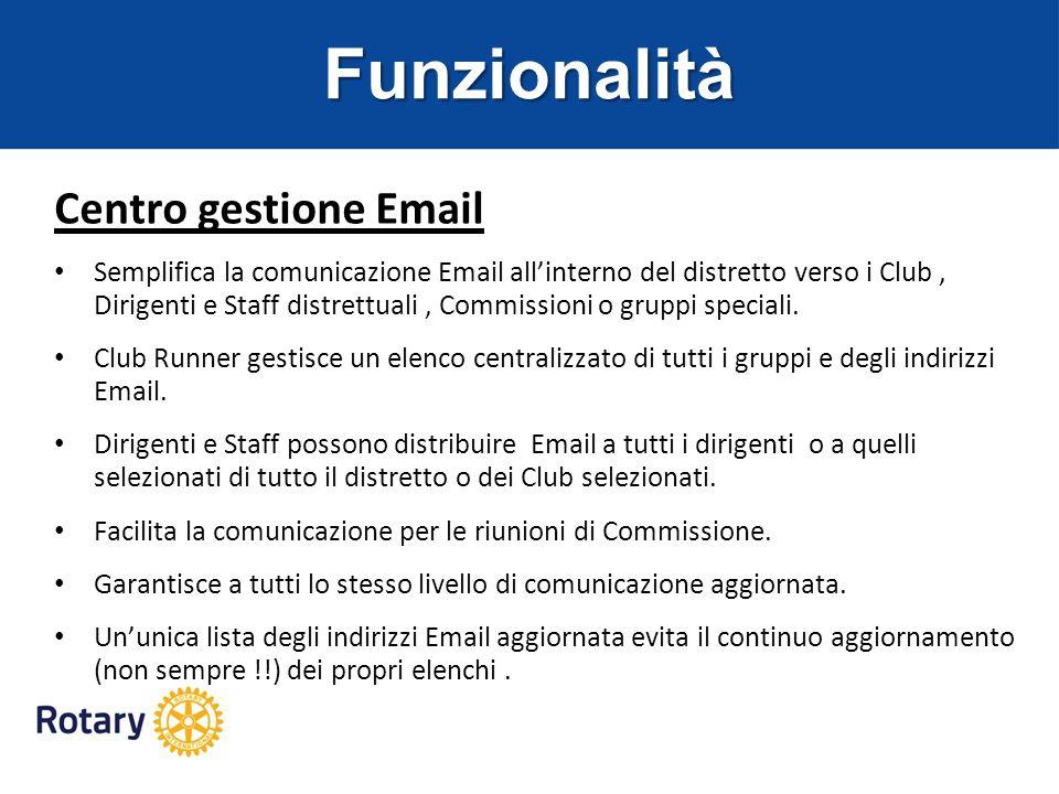Funzionalità Centro gestione Email