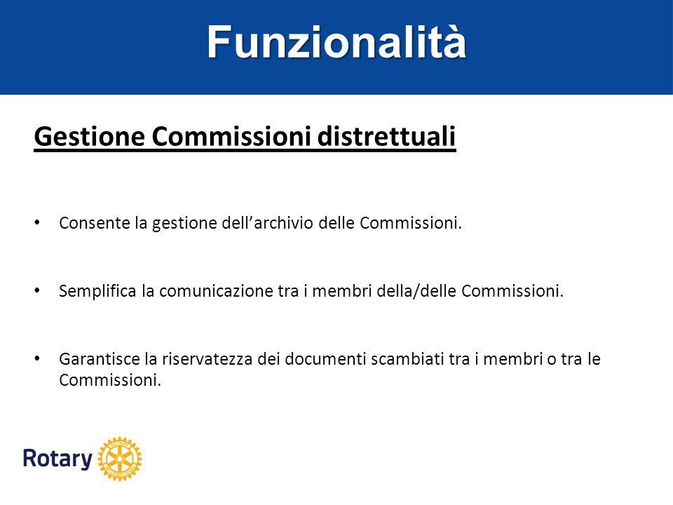Funzionalità Gestione Commissioni distrettuali