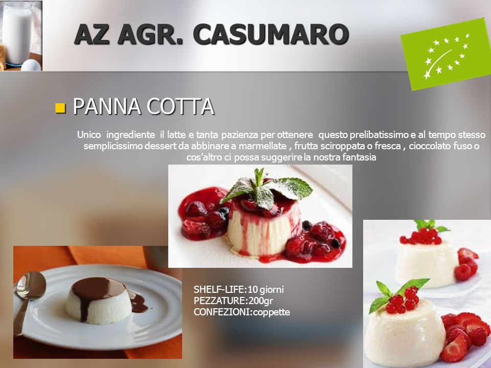 AZ AGR. CASUMARO PANNA COTTA