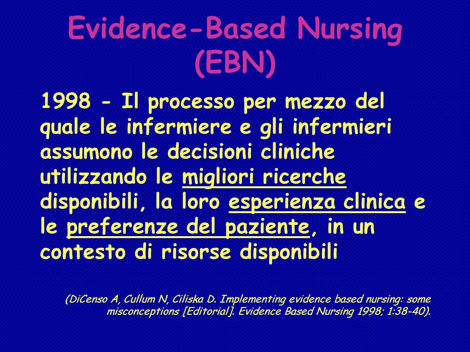 Evidence-Based Nursing (EBN)