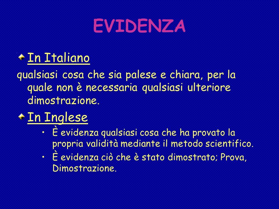 EVIDENZA In Italiano In Inglese
