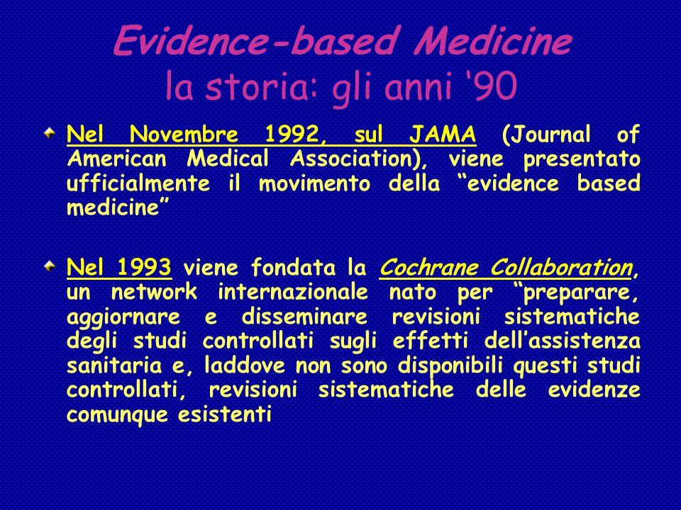 Evidence-based Medicine la storia: gli anni '90