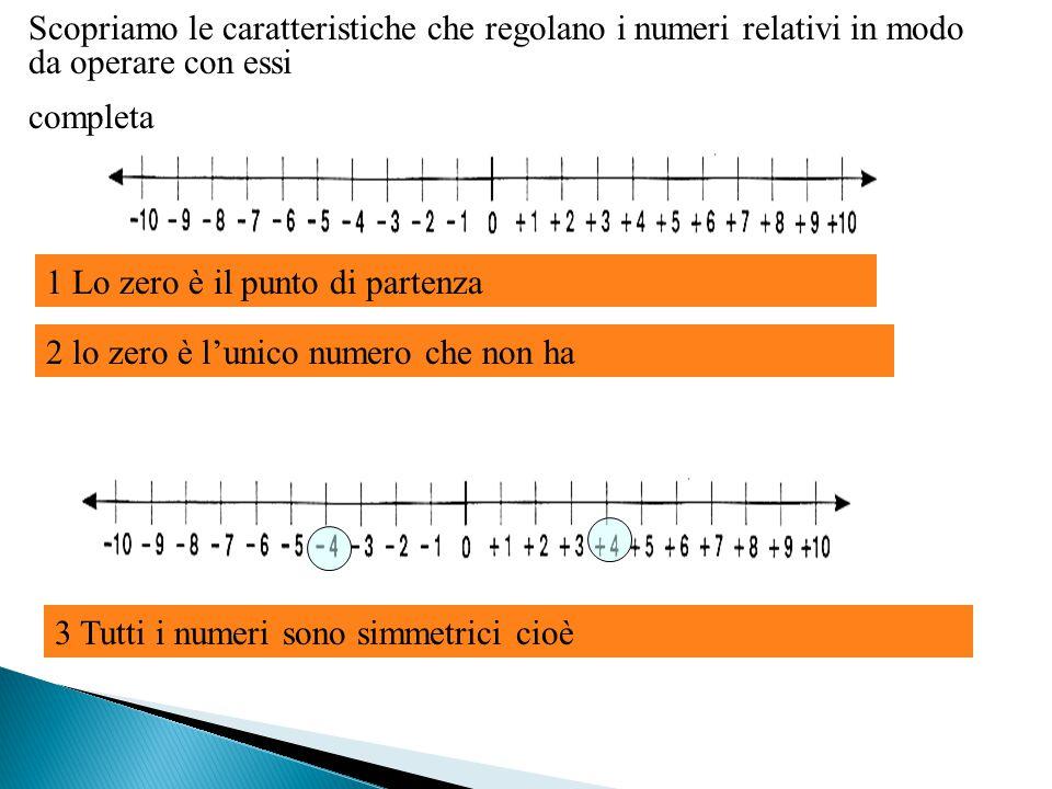 Scopriamo le caratteristiche che regolano i numeri relativi in modo da operare con essi