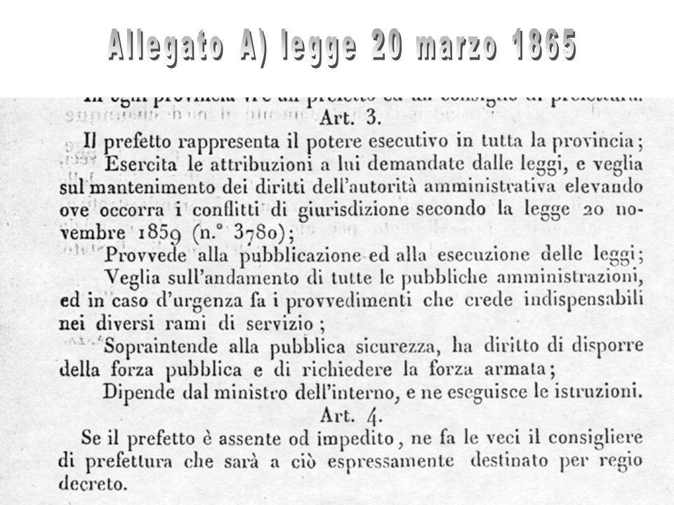 Allegato A) legge 20 marzo 1865
