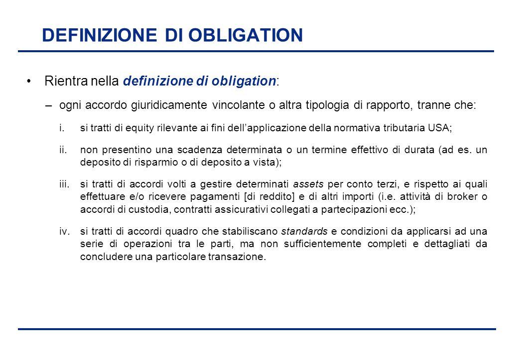 DEFINIZIONE DI OBLIGATION