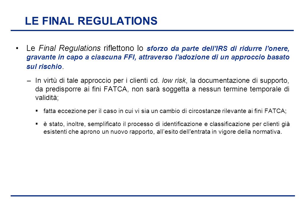 LE FINAL REGULATIONS