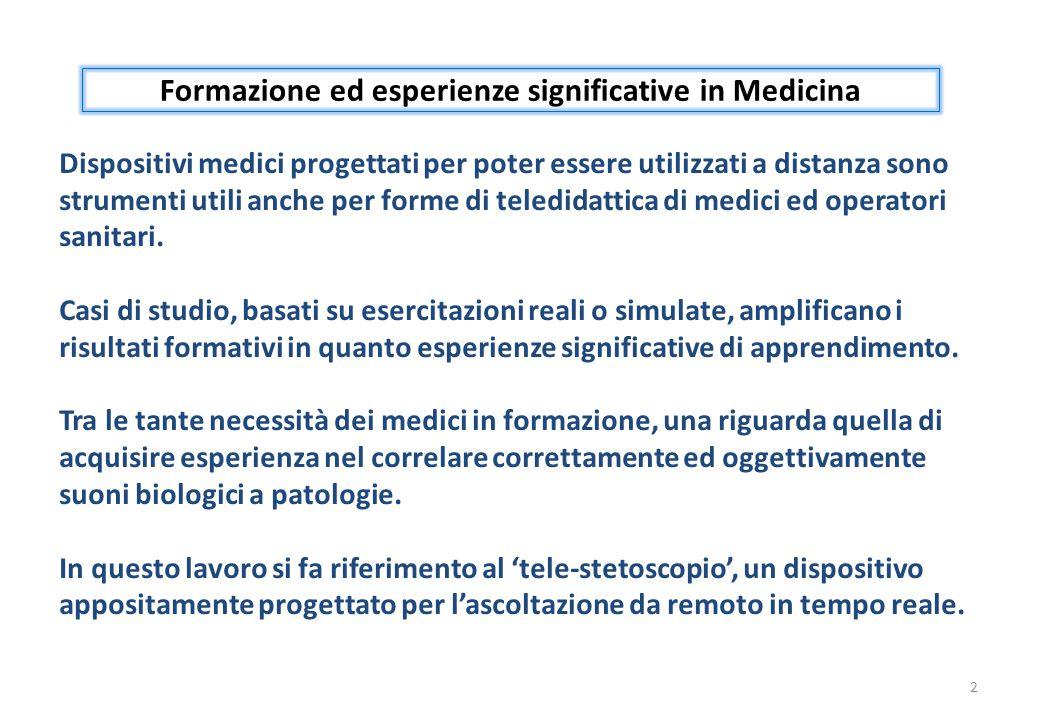 Formazione ed esperienze significative in Medicina