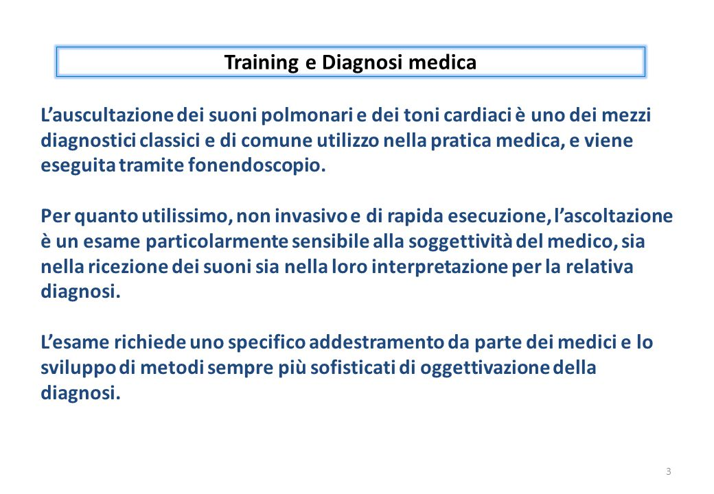 Training e Diagnosi medica