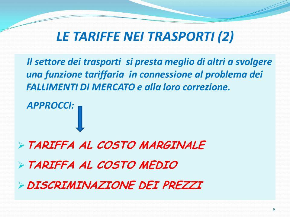 LE TARIFFE NEI TRASPORTI (2)