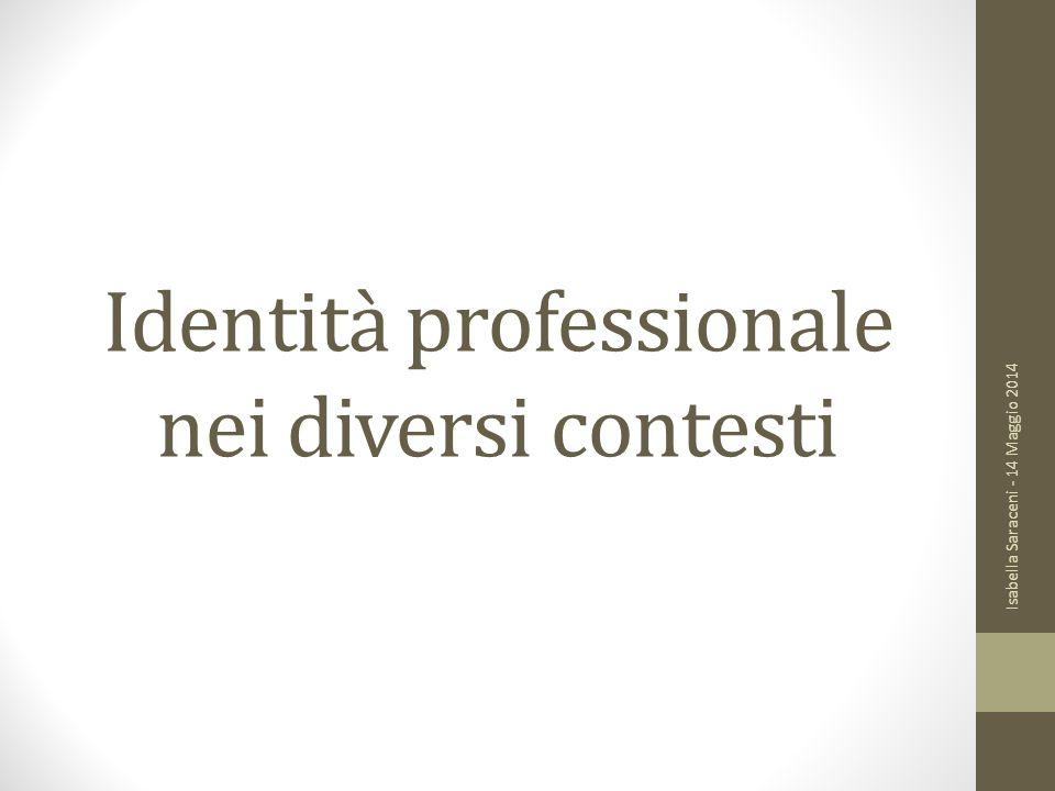 Identità professionale nei diversi contesti