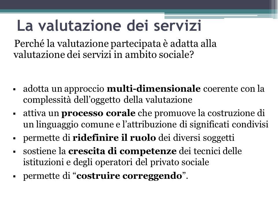La valutazione dei servizi