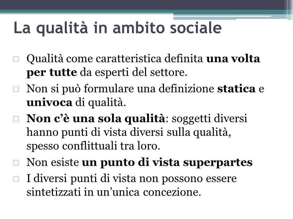 La qualità in ambito sociale