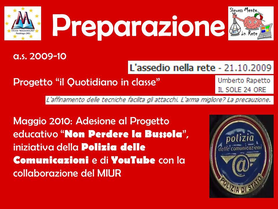 Preparazione a.s. 2009-10 Progetto il Quotidiano in classe
