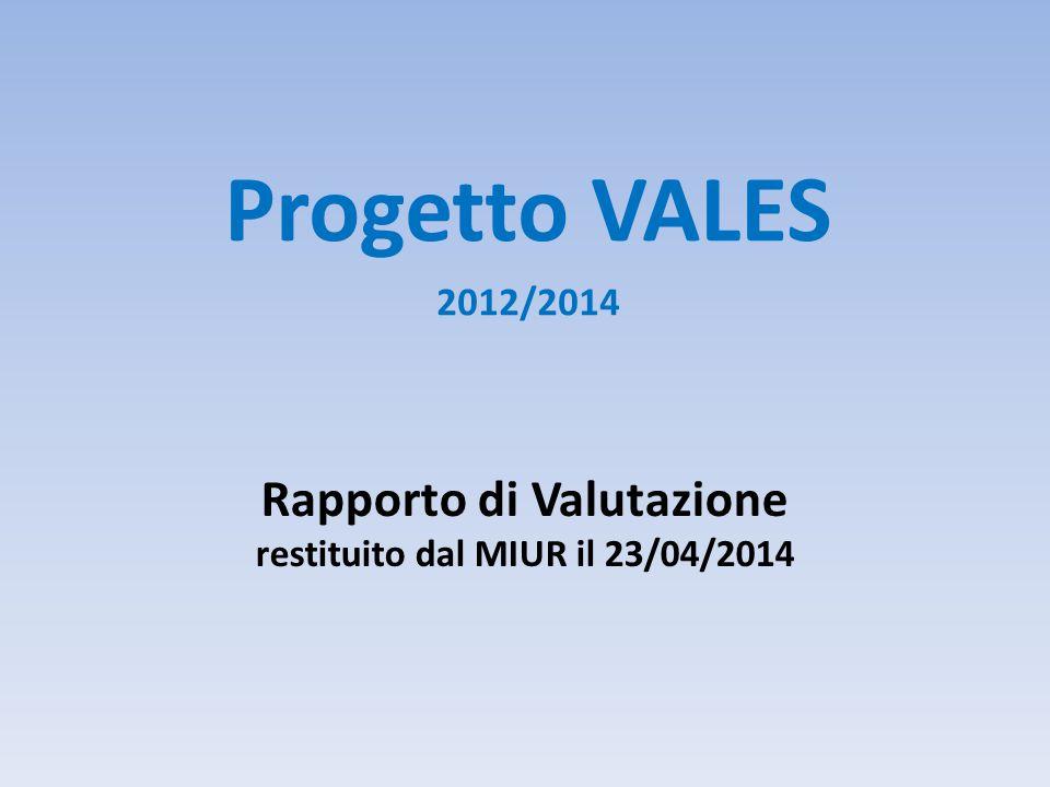Rapporto di Valutazione restituito dal MIUR il 23/04/2014