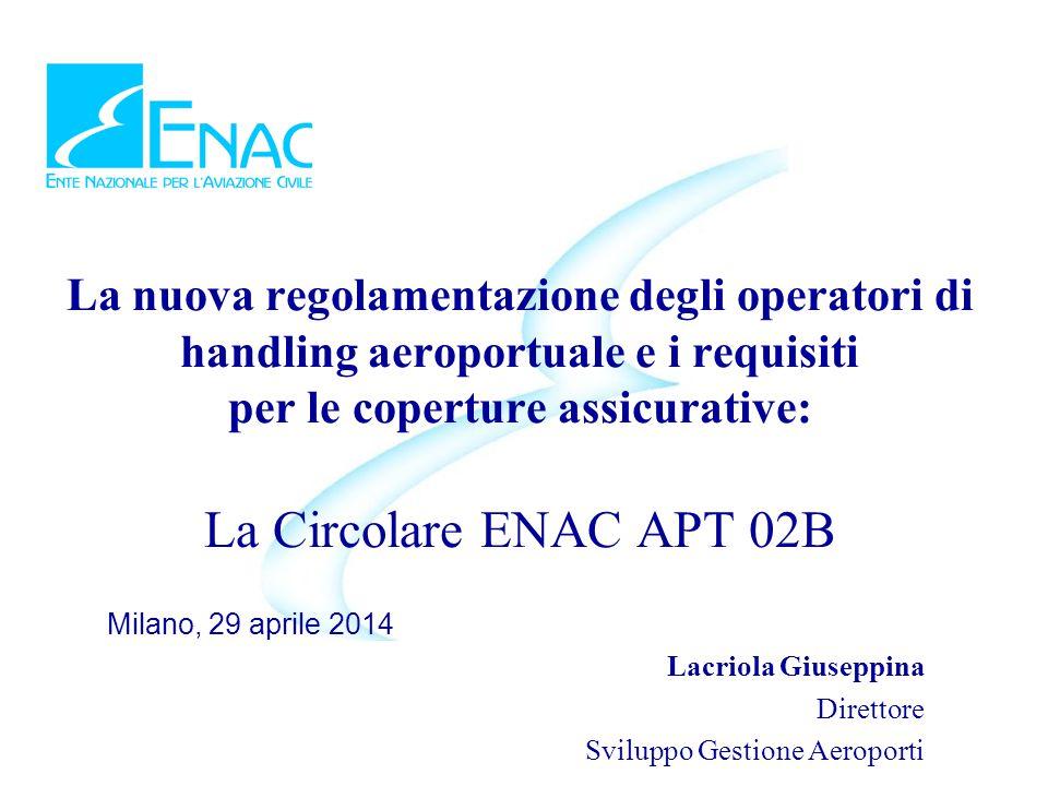 La nuova regolamentazione degli operatori di handling aeroportuale e i requisiti per le coperture assicurative: La Circolare ENAC APT 02B