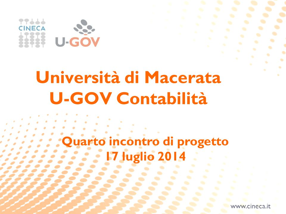 Università di Macerata Quarto incontro di progetto