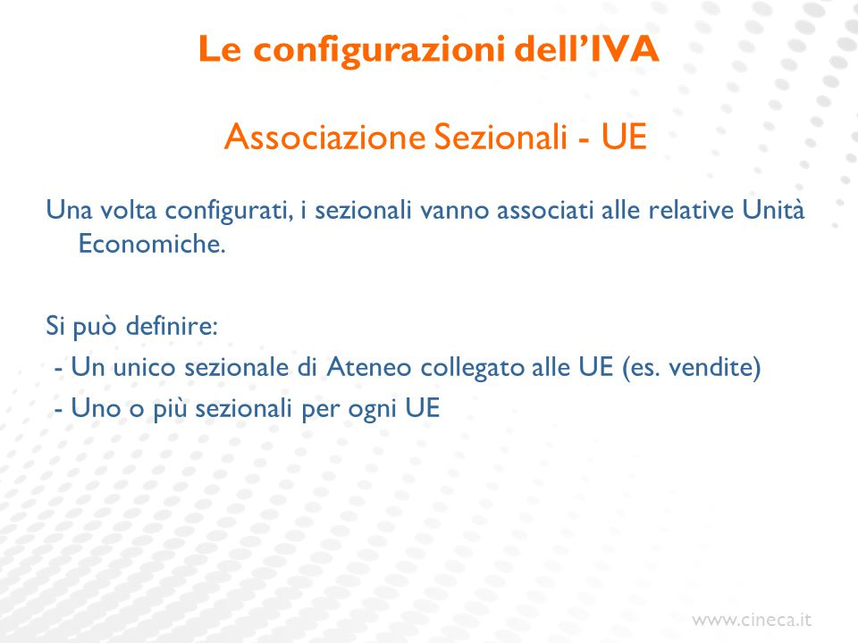 Le configurazioni dell'IVA
