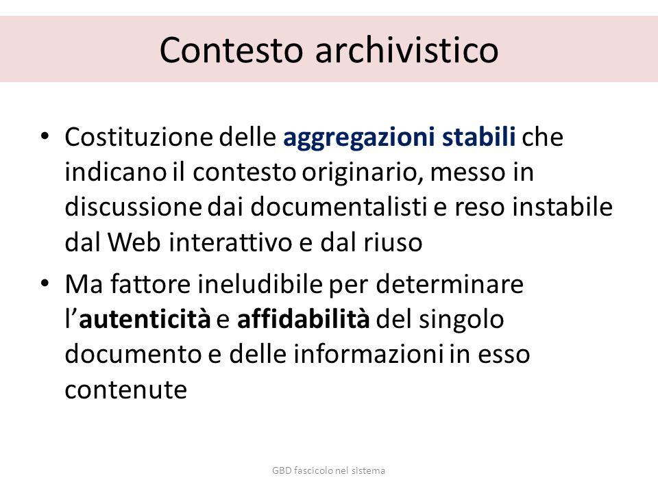Contesto archivistico