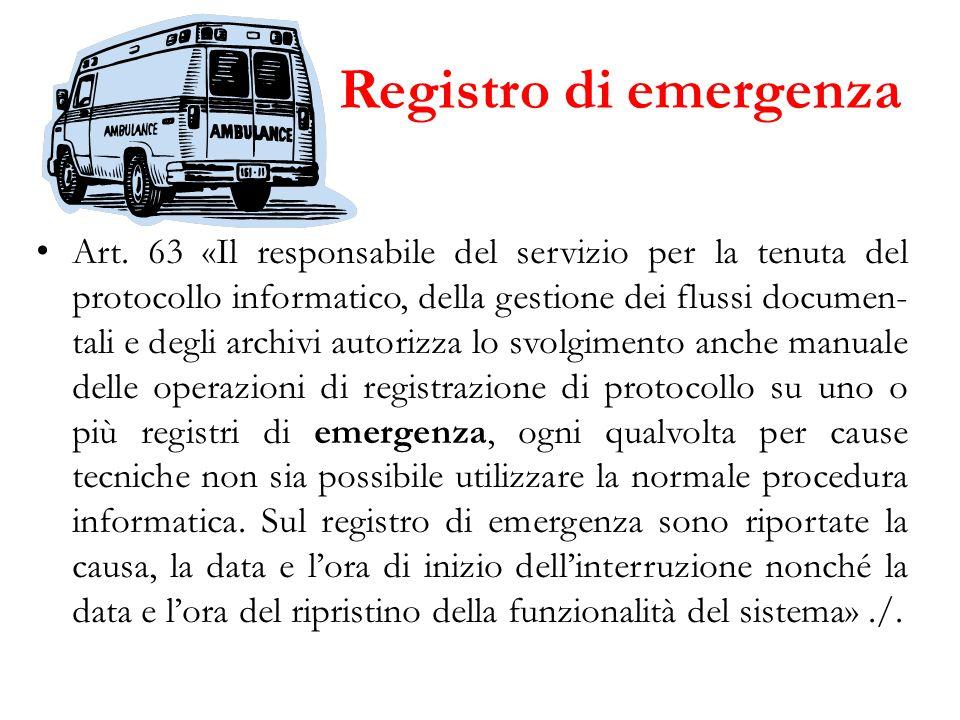 Registro di emergenza