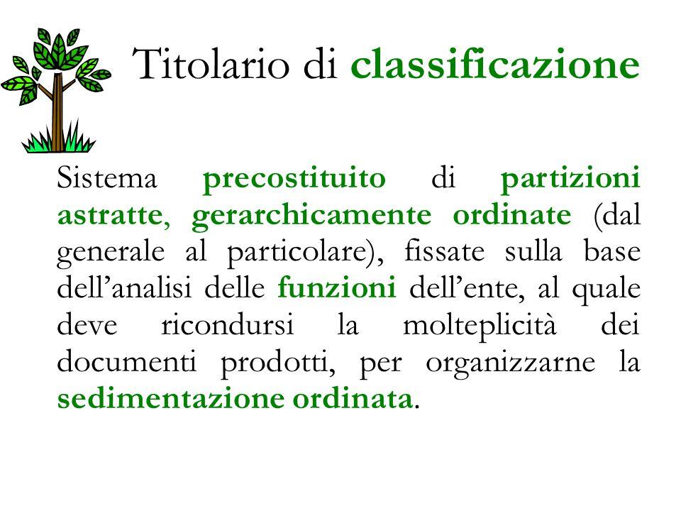 Titolario di classificazione
