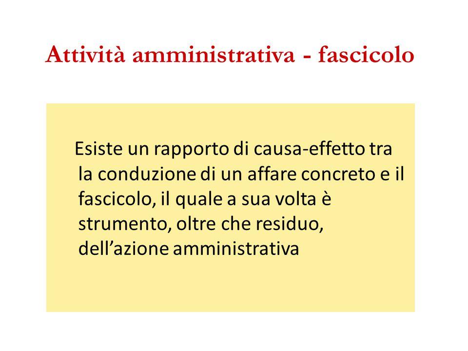 Attività amministrativa - fascicolo