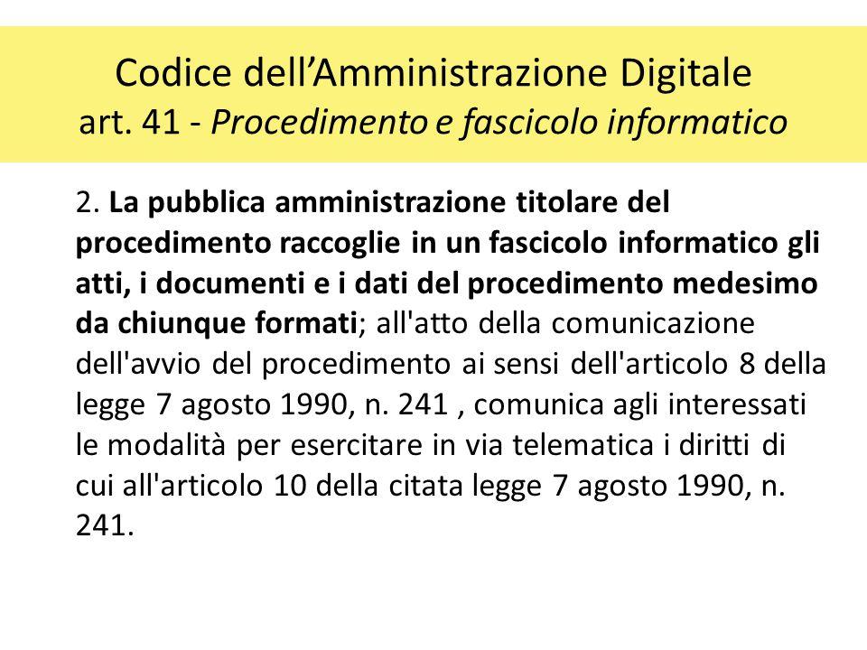 Codice dell'Amministrazione Digitale art