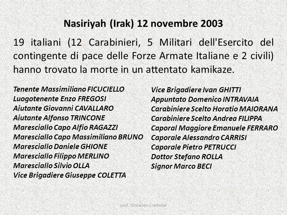 Nasiriyah (Irak) 12 novembre 2003