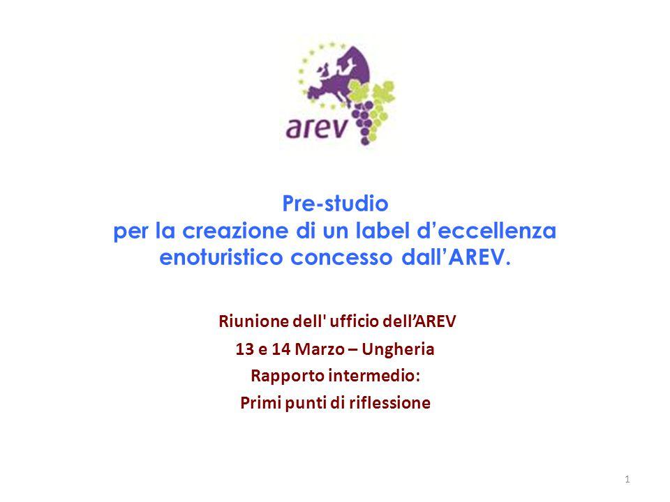 Riunione dell ufficio dell'AREV Primi punti di riflessione