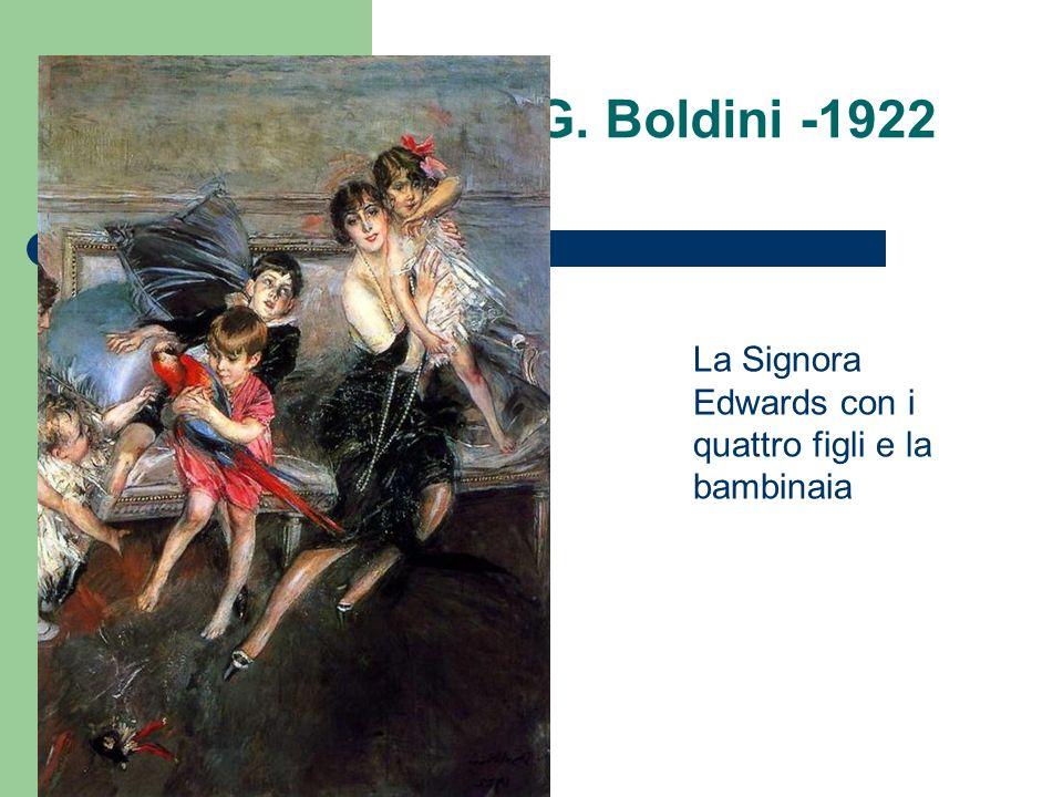G. Boldini -1922 La Signora Edwards con i quattro figli e la bambinaia