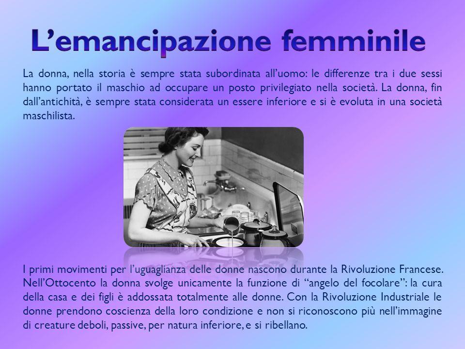 L'emancipazione femminile