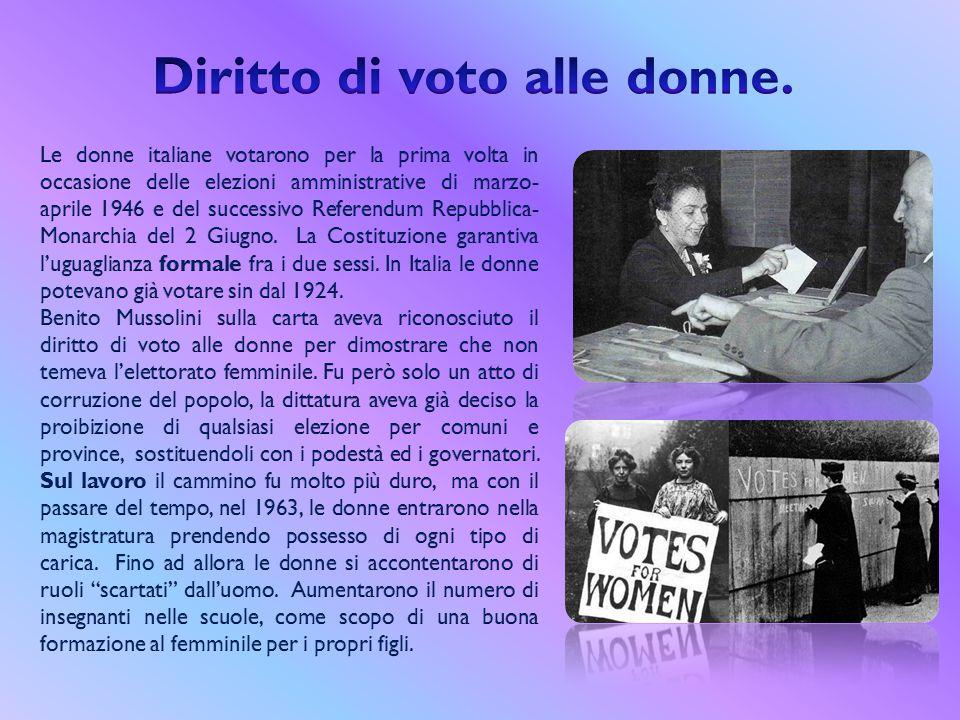 Diritto di voto alle donne.