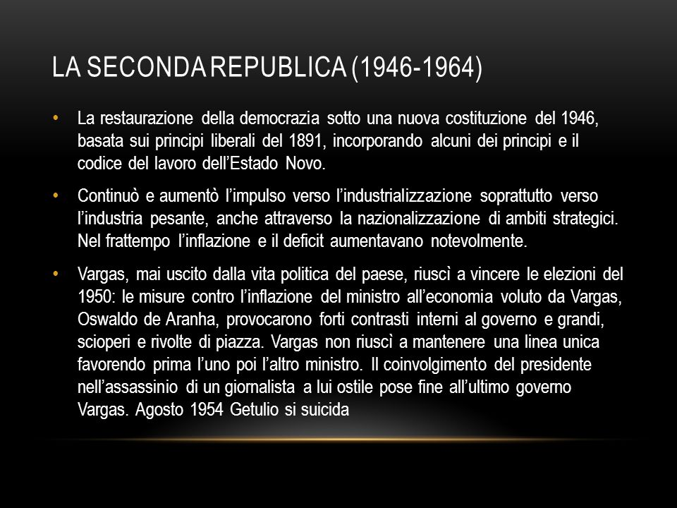 La seconda Republica (1946-1964)