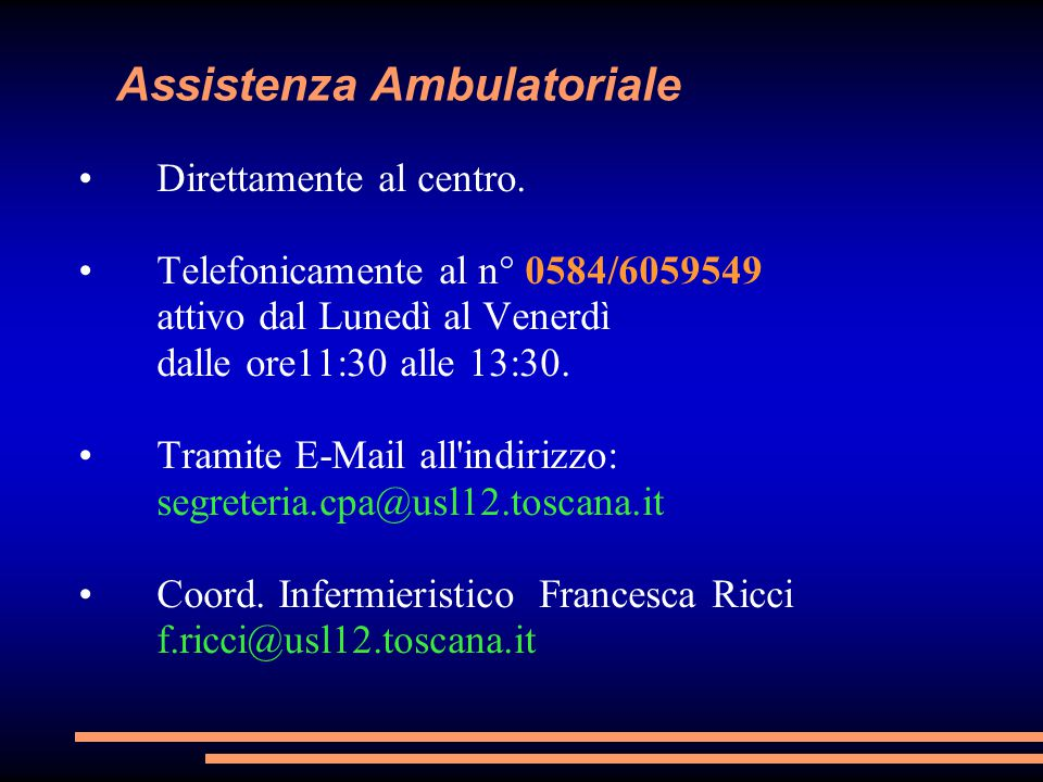 Assistenza Ambulatoriale
