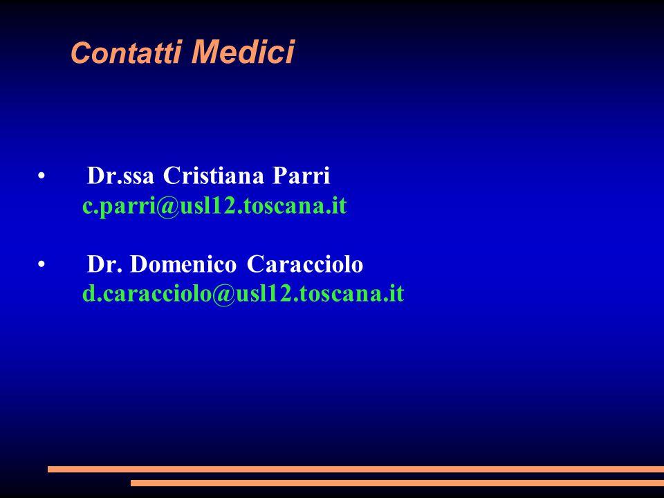 Contatti Medici Dr.ssa Cristiana Parri c.parri@usl12.toscana.it