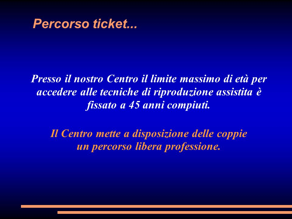Percorso ticket...