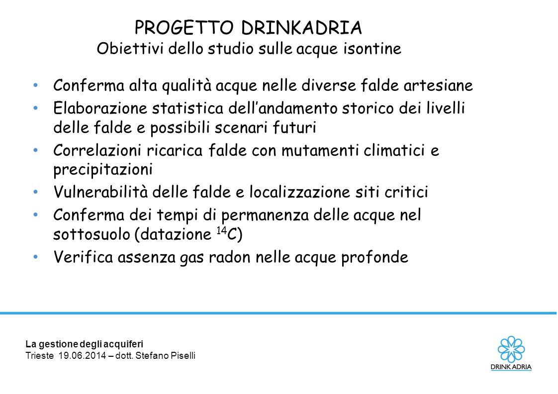 Obiettivi dello studio sulle acque isontine