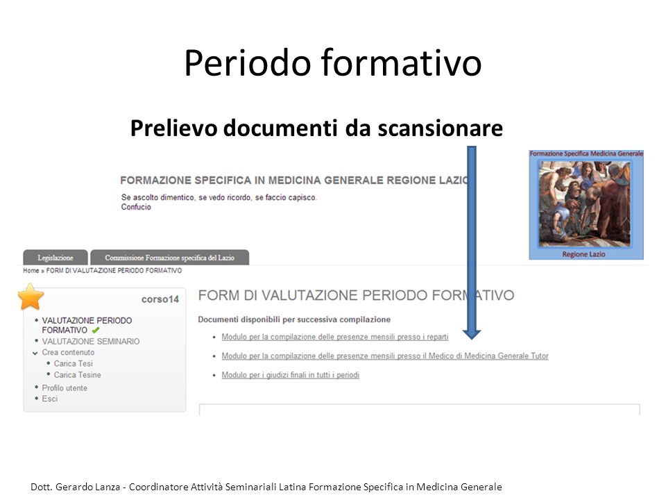 Periodo formativo Prelievo documenti da scansionare
